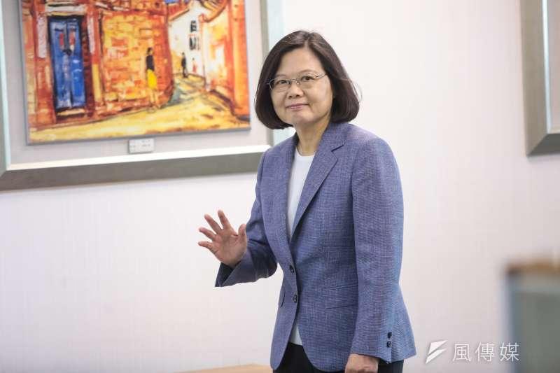 20180613-總統蔡英文13日出席民進黨中常會。(顏麟宇攝)