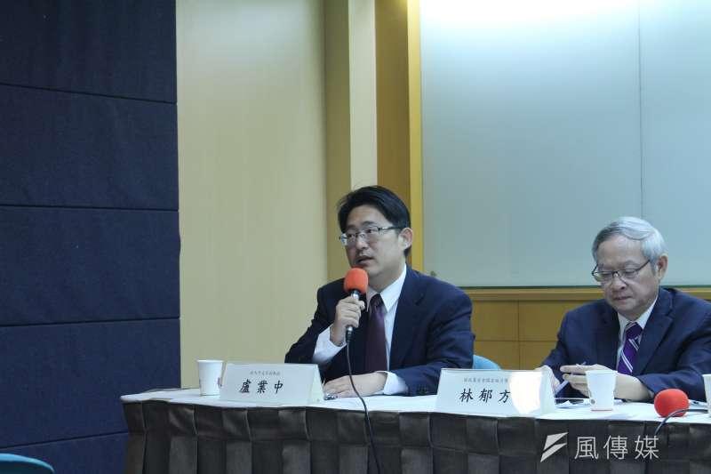2018年6月13日,中華民國國際關係學會舉辦「川金會後的朝鮮半島與東北亞情勢」座談會,政大外交系副教授盧業中發言。(蔡亦寧攝)