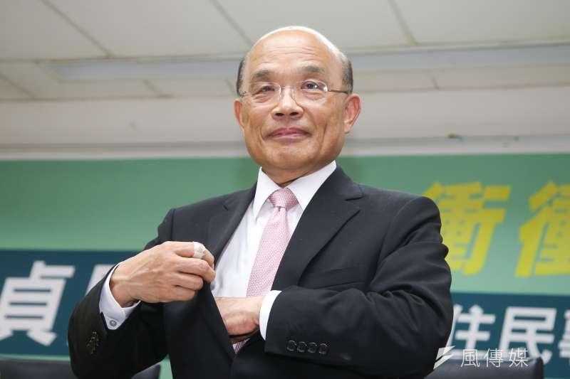 新北市長參選人蘇貞昌競選團隊,盼翻轉以往「台北市為蛋黃區、新北市為蛋白區」的傳統概念。(資料照,陳明仁攝)