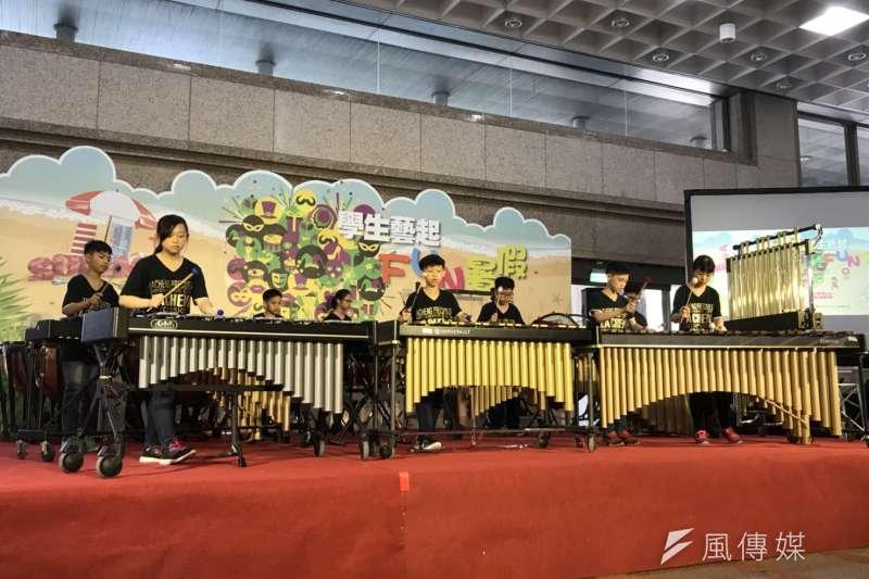 20180712_桃園大成國小打擊樂團。(吳尚軒攝)