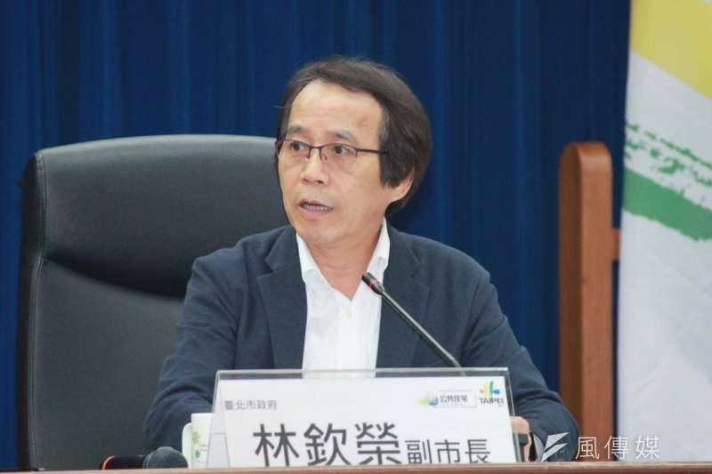 台北市副市長林欽榮出席北市都發局舉行的26校研商會議,討論學校宿舍短缺問題。(方炳超攝)
