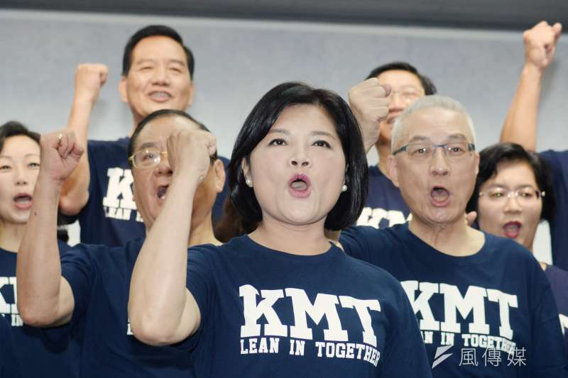 20180714-國民黨22縣市長候選人第一次合體造勢記者會,雲林縣長參選人張麗善。(甘岱民攝)