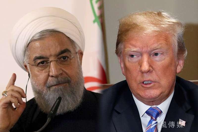 伊朗總統魯哈尼(左)與美國總統川普隔空罵戰(照片:美聯社/合成:風傳媒)