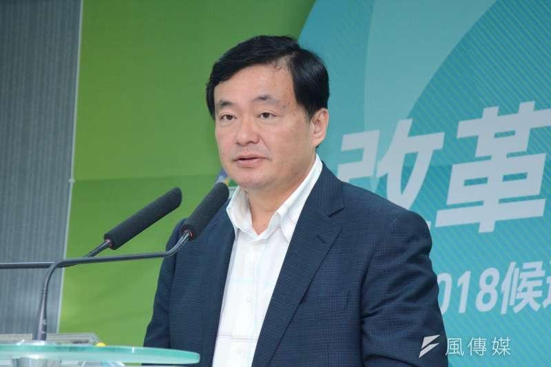 民進黨秘書長洪耀福說,沒有說要清查、開鍘,也沒有要「清黨」。(資料照,龍德成攝)