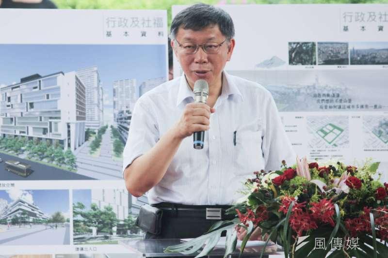 台北市長柯文哲9日拜會李登輝。(方炳超攝)