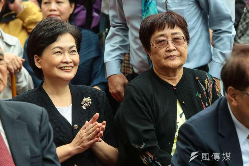 張溫鷹周清玉出席蔡英文競選總部成立大會。(顏麟宇攝)