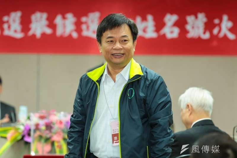 民進黨代表林錫耀出席正副總統號次抽籤會場。(顏麟宇攝)