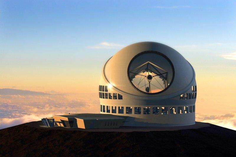 夏威夷超大望遠鏡完工圖。(美聯社)