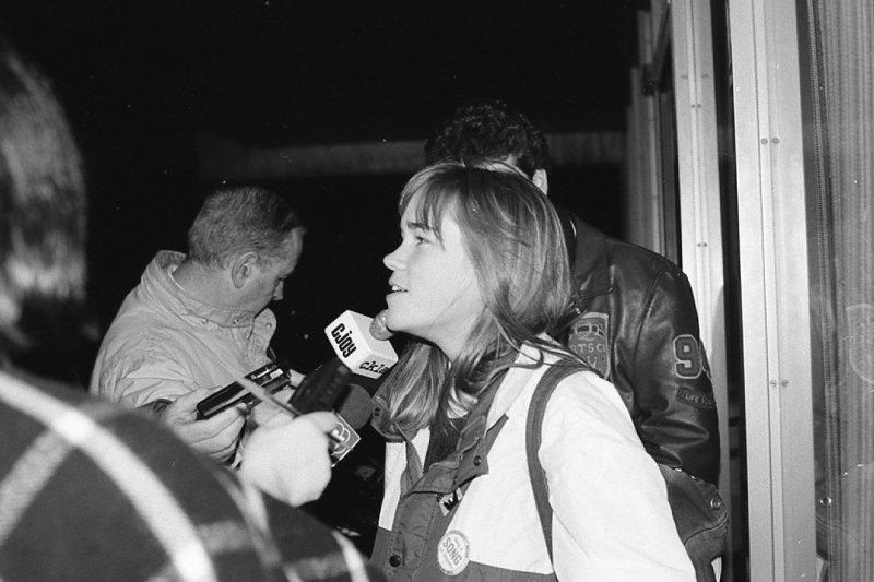 潔科1991年受審時,接受媒體訪問。(取自維基百科)