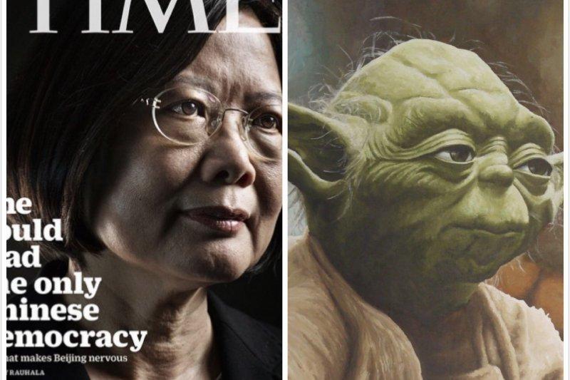 蔡英文TIME封面照引熱議 網友:「像尤達大師」-風傳媒