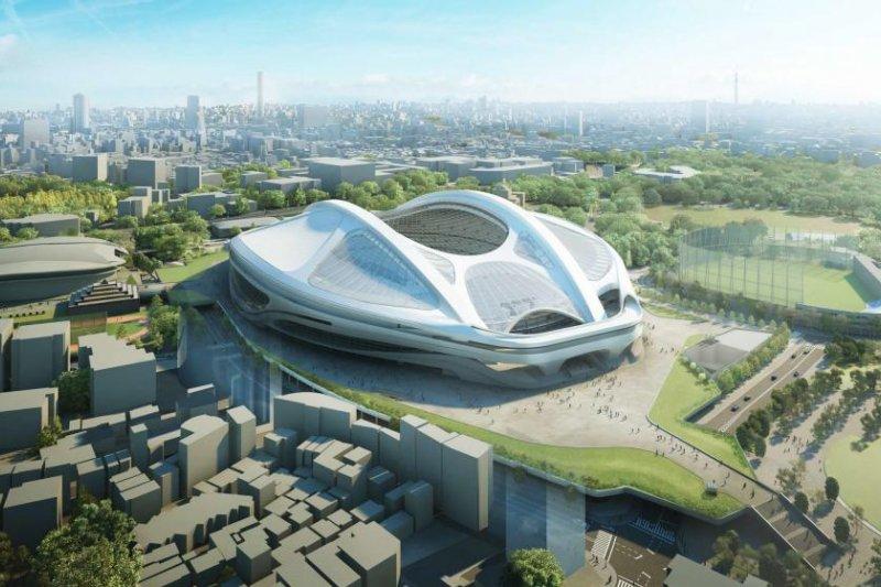 東京奧運主場館的超高預算,引起巨大爭議(圖/本文作者提供)