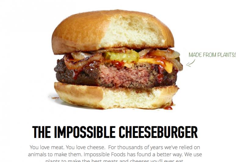 全素起司漢堡 連Google都想要的科技。(翻攝自Impossible Foods網站)