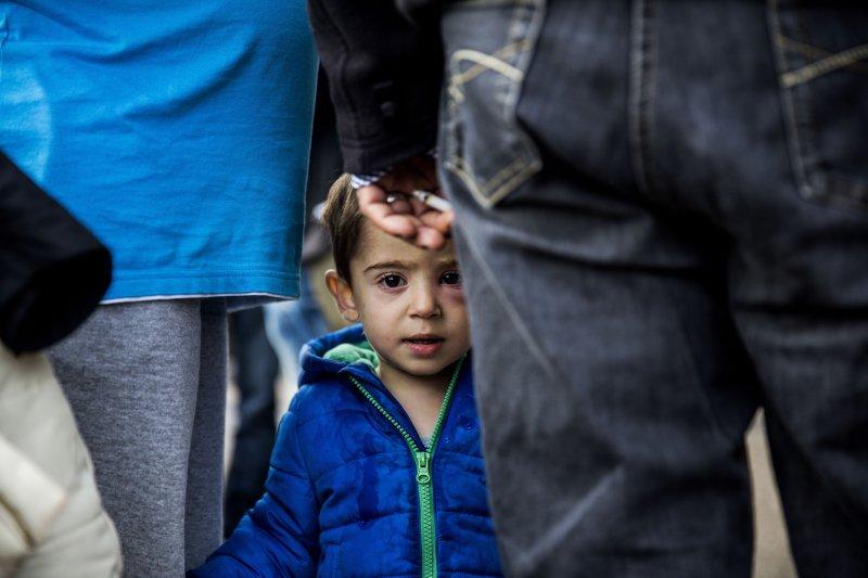 敘利亞難民與孩童。(美聯社)
