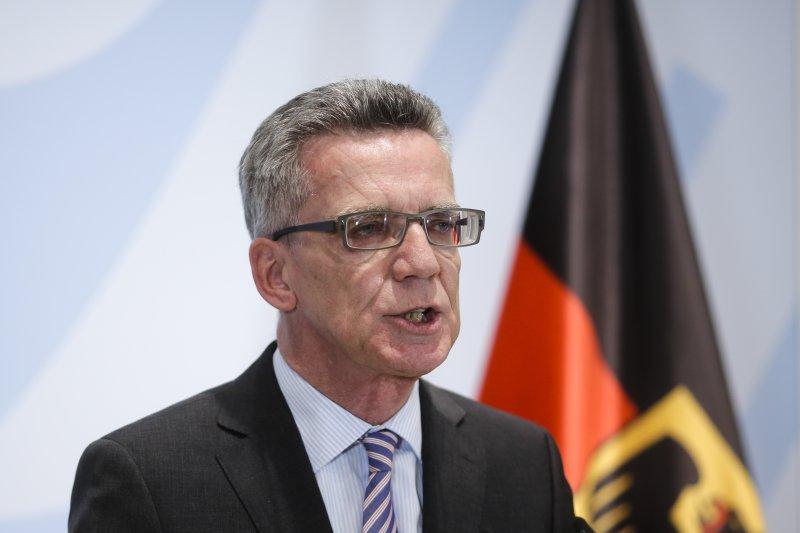 德國內政部長梅齊埃。(美聯社)