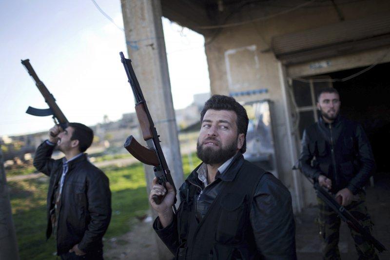 敘利亞溫和派的反抗軍「敘利亞自由軍」(美聯社)