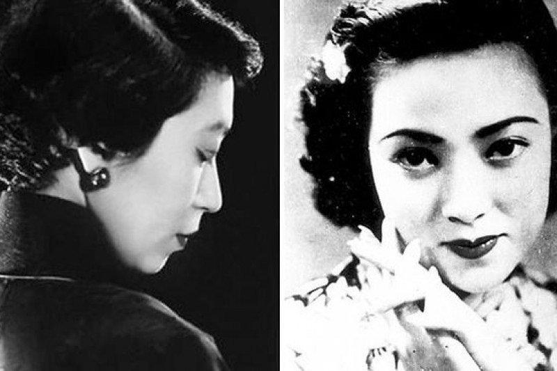 兩位民國奇女子張愛玲(左)與李香蘭(右)。
