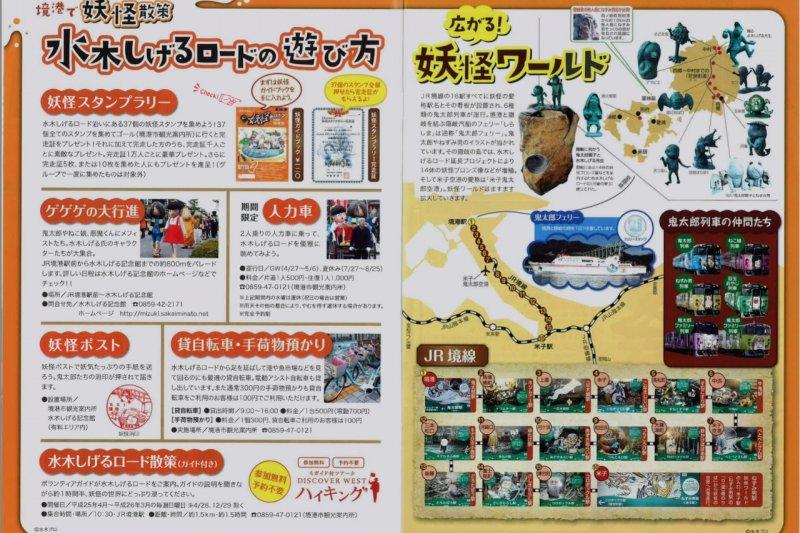 「水木茂之街」的導覽圖。