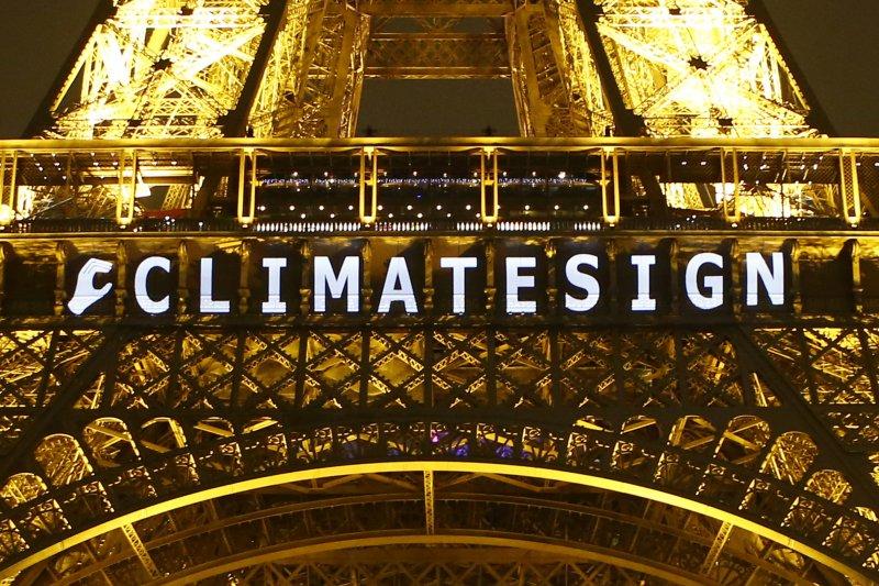 巴黎氣候峰會12日達成歷史性協議。(美聯社)