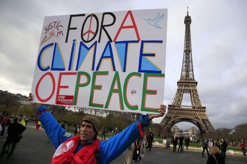 2015年巴黎氣候變遷峰會(美聯社)