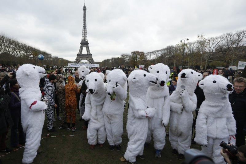 巴黎氣候變遷峰會(美聯社)