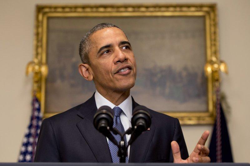 巴黎氣候變遷峰會通過協定,美國總統歐巴馬表示欣慰(美聯社)