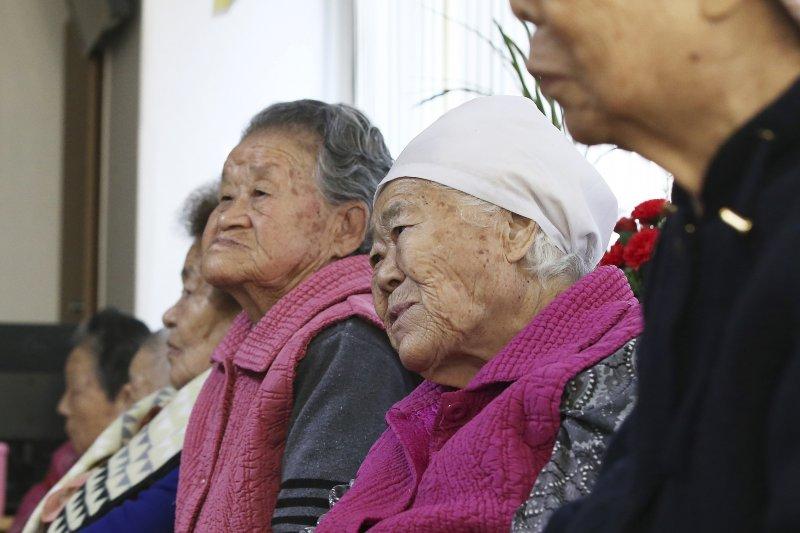 南韓目前還在世的慰安婦,僅剩不到50位。(美聯社)