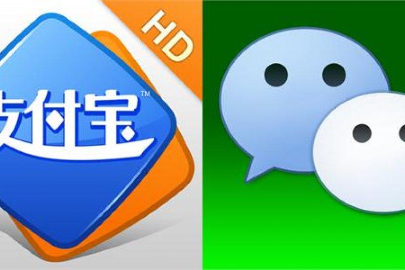 行動支付的方式的目前在中國早就不稀奇,市場中最主要的是阿里巴巴旗下的支付寶以及騰訊公司底下的微信支付。(取自網路)