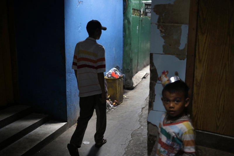 印尼首都雅加達的貧民窟(美聯社)