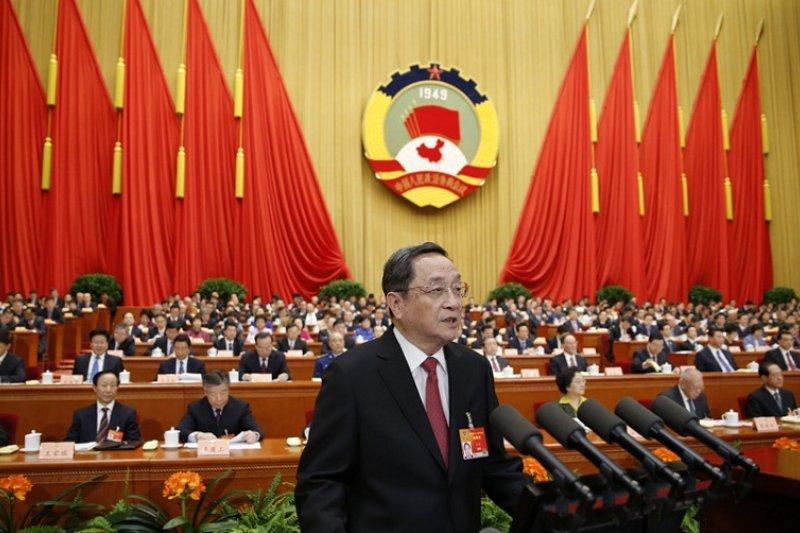 中國政協主席俞正聲提出工作報告。(新華網)