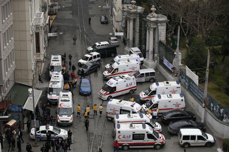 土耳其第一大城伊斯坦堡(Istanbul)19日發生恐怖攻擊(美聯社)