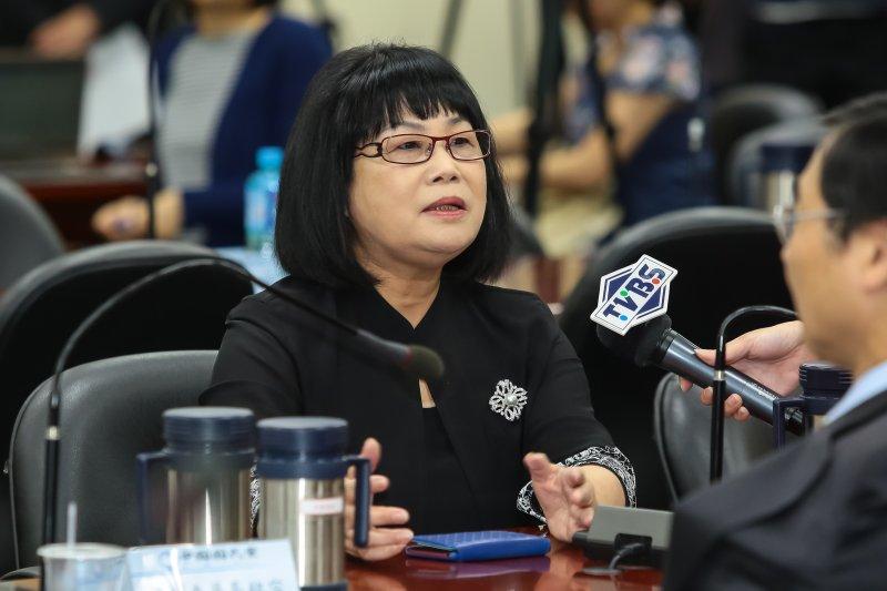 前立法委員侯彩鳳出席國民黨中常會。(顏麟宇攝)