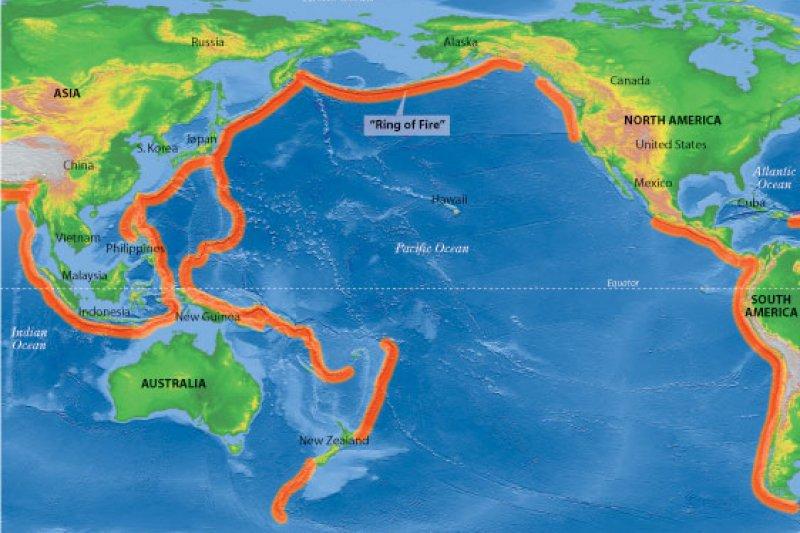 環太平洋火山地震帶。(取自推特)