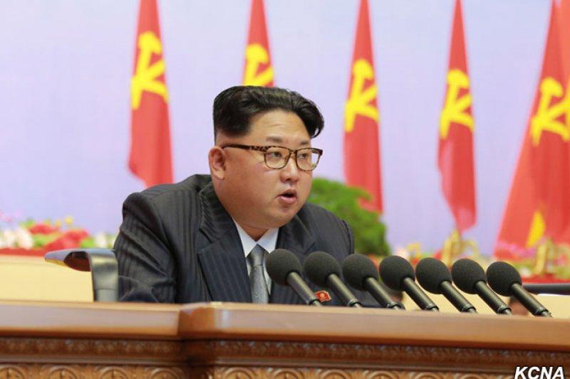 北韓最高領導人金正恩主持北韓執政黨「朝鮮勞動黨」第七次全國代表大會(KCNA)