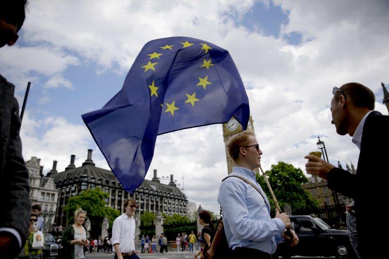 英國脫歐公投,脫歐派勝利。(美聯社)