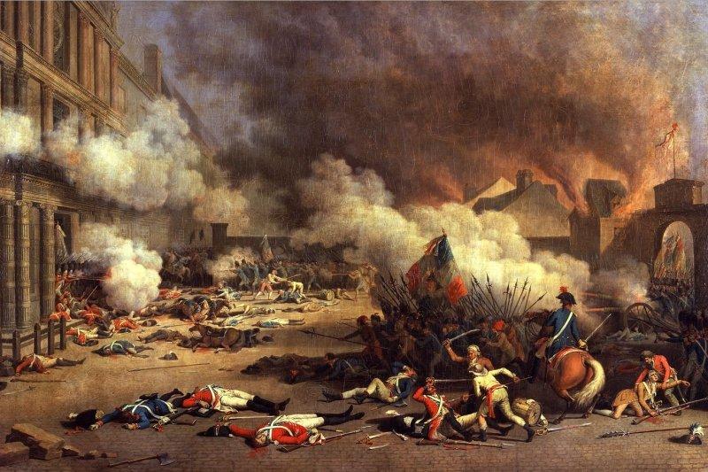 1792年8月10日,法國人民起義攻陷杜樂麗宮(Palais des Tuileries),推翻君主制。(取自Wikipedia)
