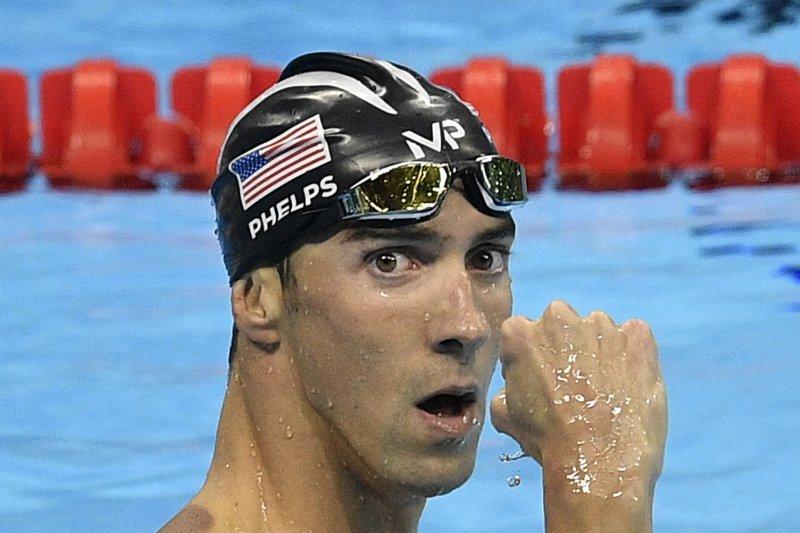 美國泳將費爾普斯奪下個人生涯第20面金牌。(美聯社)