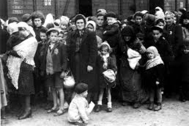納粹集中營中的兒童。(圖取自維基百科)