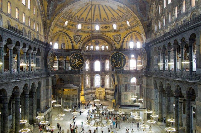 伊斯坦堡博物館卡可以進入聖索菲亞大教堂。(圖/Brian Jeffery Beggerly@flickr)