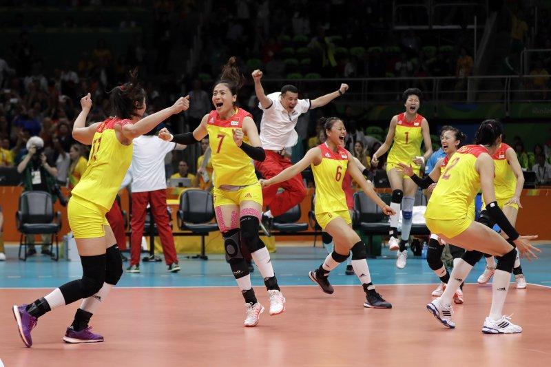 里約奧運》中國女排3-1逆轉塞爾維亞 第3次奪得奧運金牌(AP)
