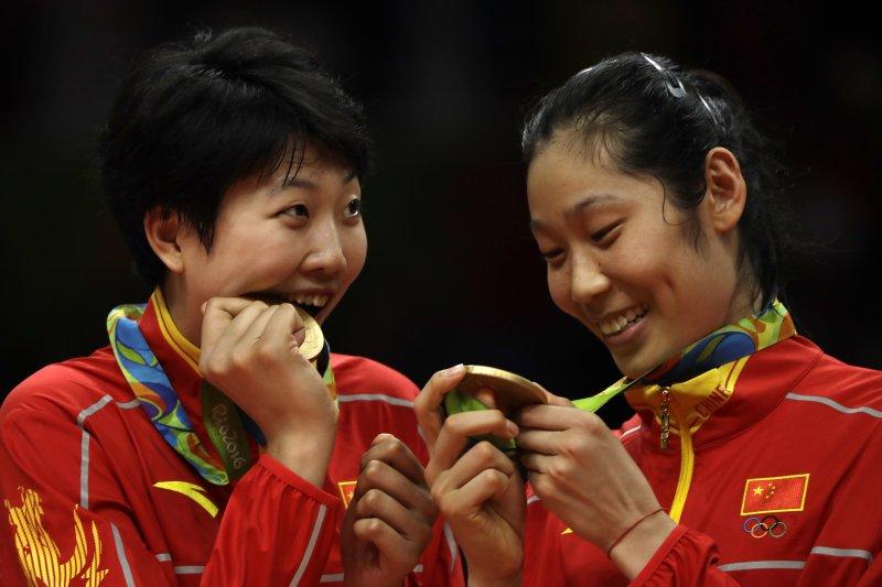 里約奧運,中國女排3-1逆轉塞爾維亞 第3次奪得奧運金牌(AP)