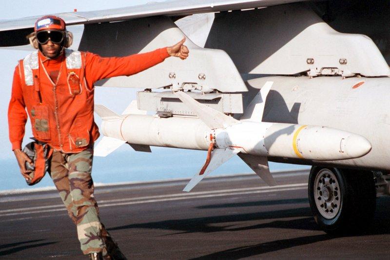 AGM-88_HARM飛彈。(取自維基百科,U.S. Navy Photo攝/CC BY 4.0)