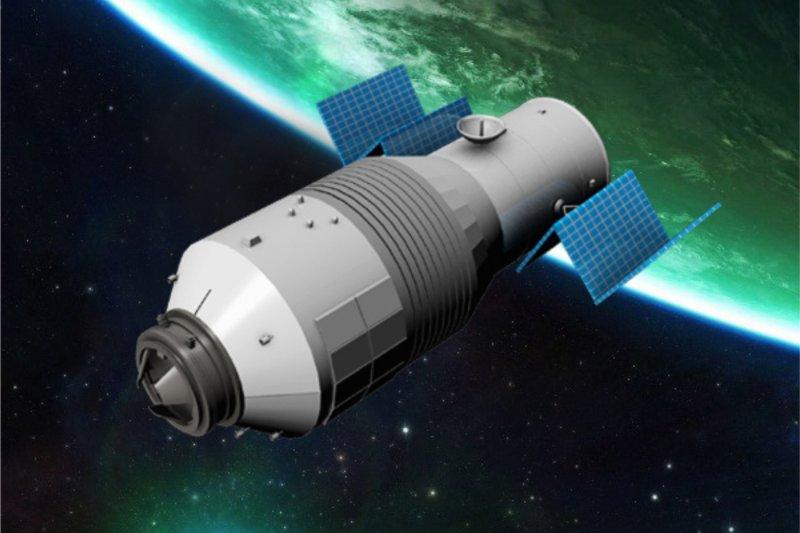 天宮二號發射:展開太陽電池翼(新華社)