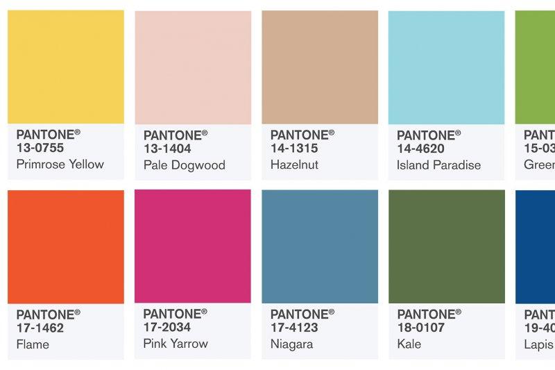 看過這10個顏色之後,你應該知道要怎麼做了吧?(圖/翻攝自Pantone網站)