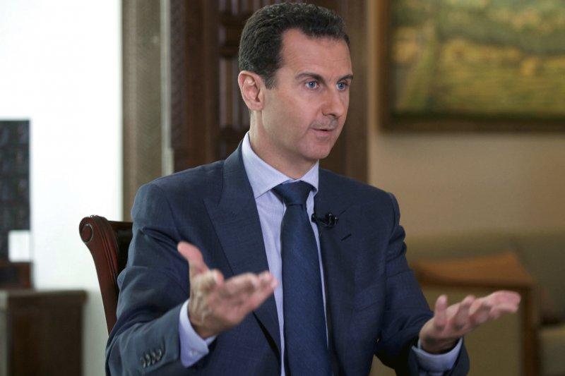 敘利亞敘總統阿塞德表示,如果川普信守對付「恐怖分子」的承諾,他們倆將「理所當然成為盟友」。(美聯社)
