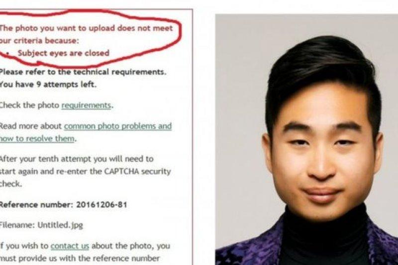 華裔男申請護照因眼小遭拒:網站提醒睜眼-風傳媒