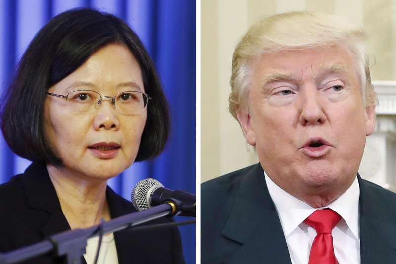 美國總統川普與台灣總統蔡英文(AP合成)