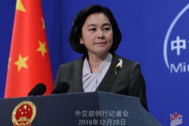 中國外交部華春瑩對中國往北韓運油一事的說法,頗有顧左右而言他的味道。(中國外交部網站)