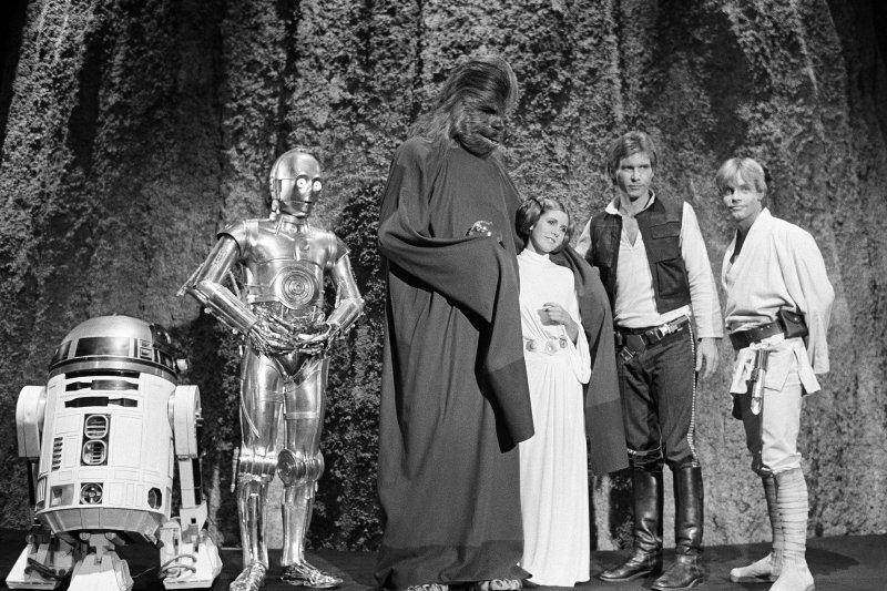 好萊塢女星嘉莉費雪(Carrie Fisher),《星際大戰》(Star Wars)中的莉亞公主(Princess Leia)(AP)