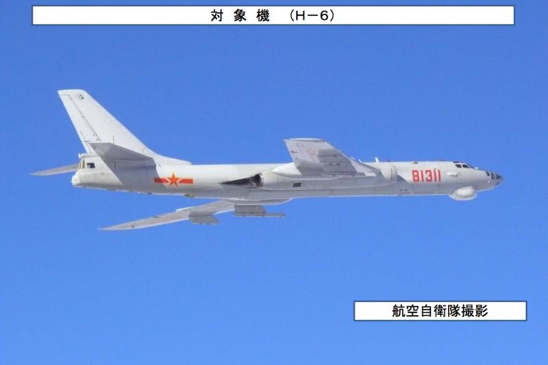 中國空軍的轟-6轟炸機。(統合幕僚監部)
