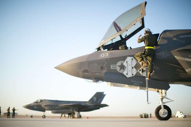美軍VMFA-121中隊的F-35B戰機。(美國海軍官網)